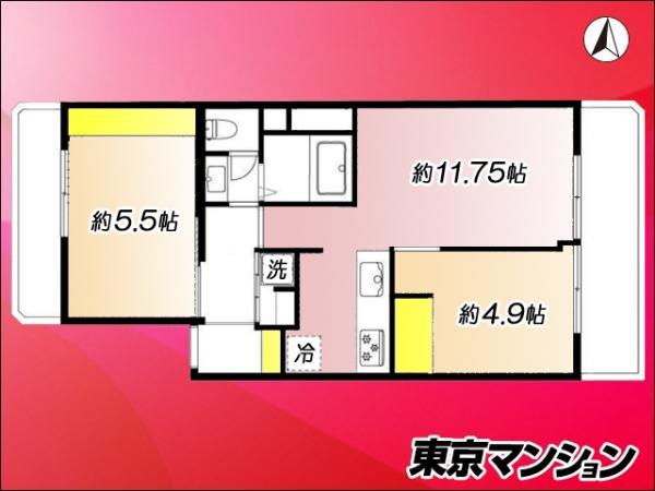 中古マンション 練馬区南田中4丁目1-16 西武新宿線井荻駅 2580万円