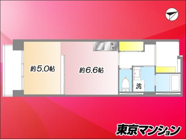中古マンション 新宿区高田馬場3丁目14-19 JR山手線高田馬場駅 2180万円