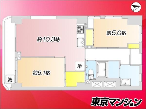 中古マンション 渋谷区恵比寿3丁目 JR山手線恵比寿駅 3390万円