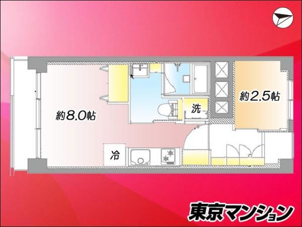 中古マンション 中央区築地3丁目1-4 有楽町線新富町駅 2199万円