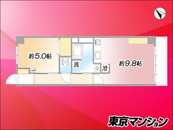中古マンション 目黒区鷹番2丁目 東急東横線学芸大学駅 2580万円