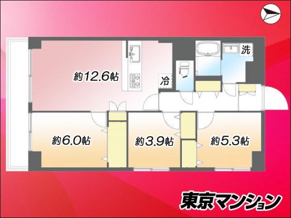 中古マンション 北区赤羽2丁目 JR埼京線赤羽駅 4999万円