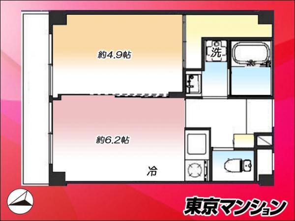 中古マンション 品川区西五反田1丁目 JR山手線五反田駅 3280万円