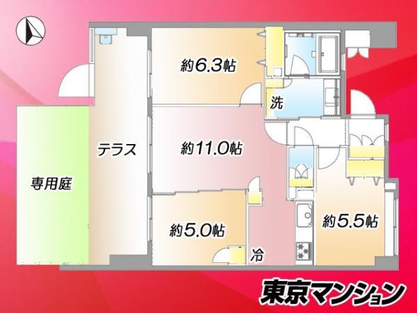 中古マンション 墨田区立花3丁目16-1 東武亀戸線東あずま駅 3999万円
