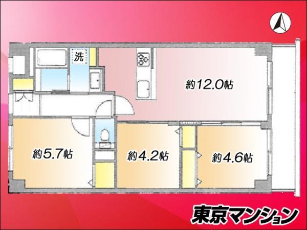 中古マンション 北区堀船3丁目 JR京浜東北線王子駅 2899万円