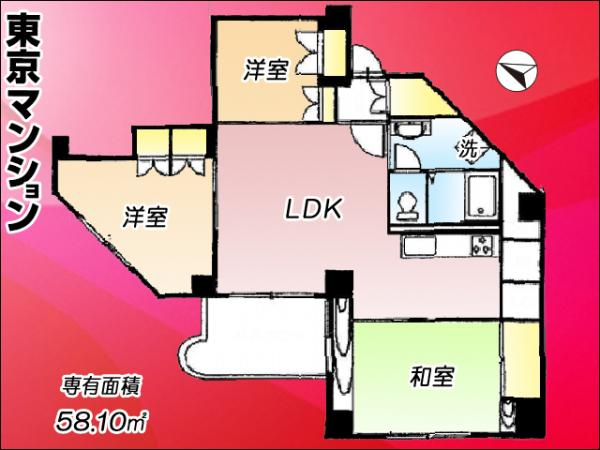 中古マンション 練馬区関町南4丁目15-5 西武新宿線武蔵関駅 2450万円