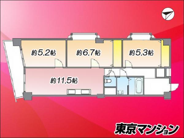 中古マンション 大田区仲六郷2丁目41-13 京急本線雑色駅 3580万円