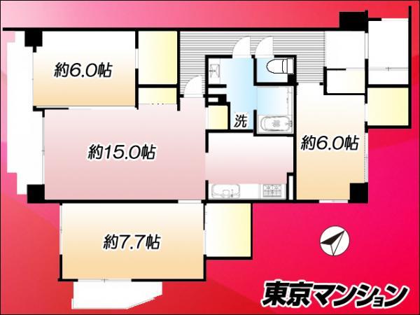 中古マンション 墨田区墨田5丁目 東武伊勢崎線鐘ヶ淵駅 3999万円