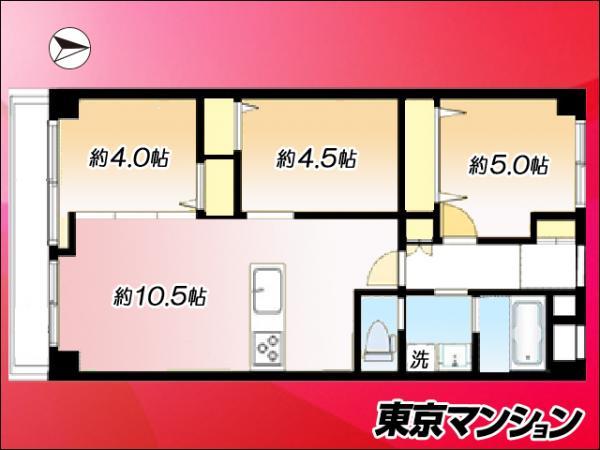中古マンション 江東区亀戸2丁目 JR中央・総武線亀戸駅 2980万円