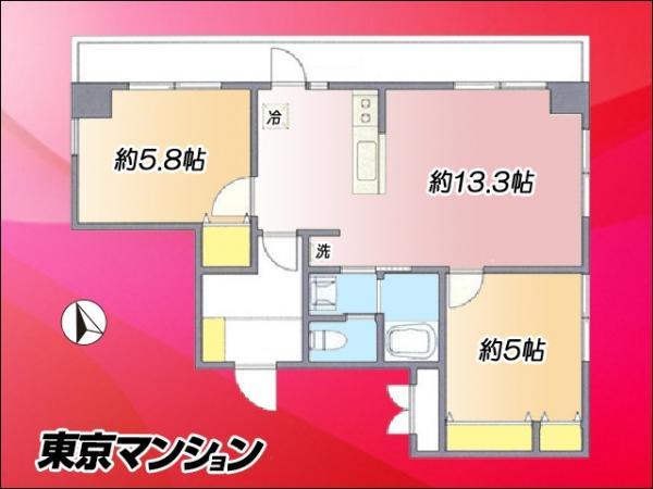 中古マンション 新宿区上落合1丁目 西武新宿線中井駅 2580万円