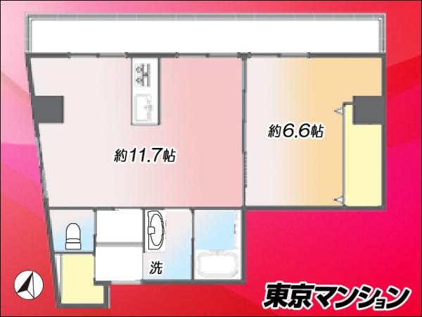 中古マンション 渋谷区初台2丁目 小田急線代々木八幡駅 4180万円