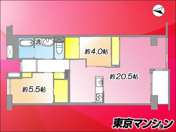 中古マンション 江東区北砂5丁目 都営新宿線大島駅 4290万円