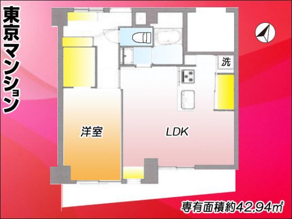 中古マンション 目黒区三田2丁目 JR山手線恵比寿駅 3490万円