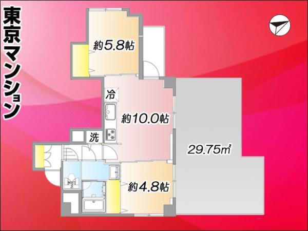中古マンション 大田区大森北4丁目 JR京浜東北線大森駅 3299万円