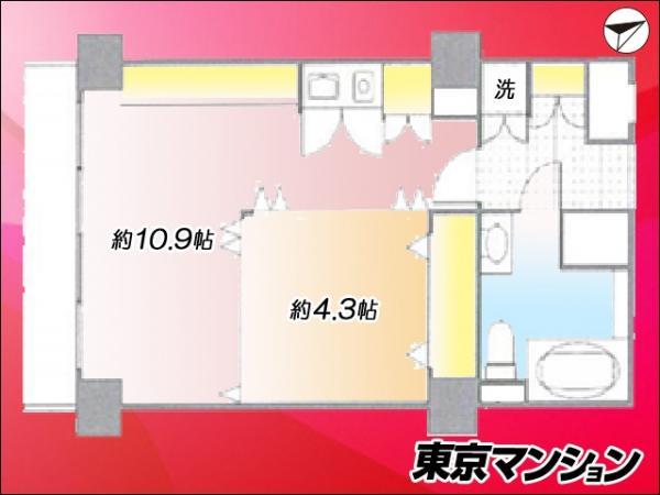 中古マンション 中央区勝どき5丁目 都営大江戸線勝どき駅 2580万円