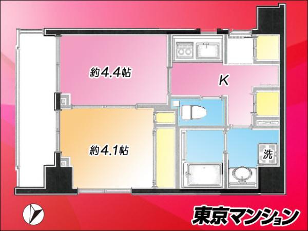 中古マンション 板橋区東坂下2丁目 都営三田線蓮根駅 2280万円