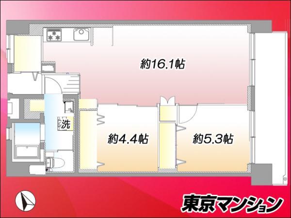 中古マンション 新宿区戸山2丁目 副都心線西早稲田駅 4499万円