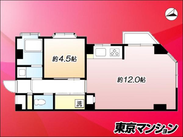 中古マンション 渋谷区幡ヶ谷2丁目9-16 京王線幡ヶ谷駅 3200万円
