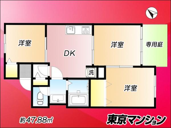 中古マンション 杉並区上荻3丁目 JR中央・総武線西荻窪駅 2580万円