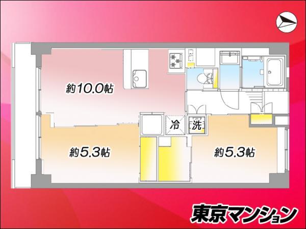 中古マンション 大田区蒲田1丁目1-7 JR京浜東北線蒲田駅 2899万円