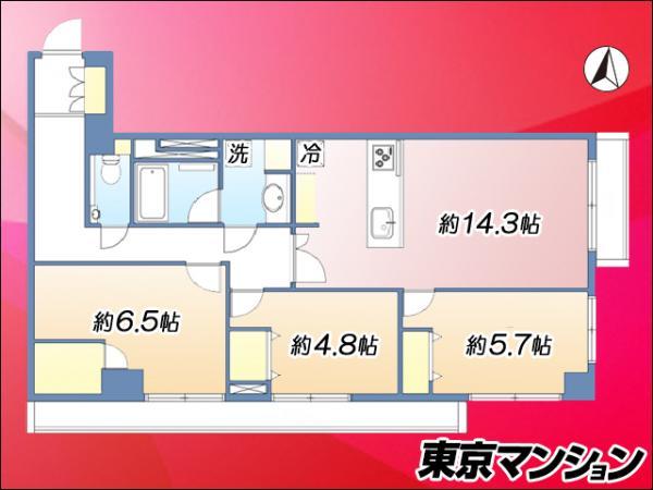 中古マンション 墨田区押上2丁目10-8 半蔵門線押上駅 6990万円