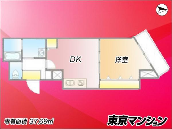 中古マンション 品川区東五反田5丁目 JR山手線五反田駅 3450万円