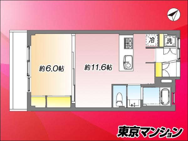 中古マンション 新宿区上落合3丁目25-6 東西線落合駅 2188万円