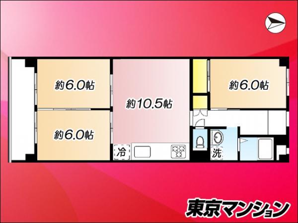 中古マンション 江東区大島3丁目21-11 都営新宿線西大島駅 2480万円