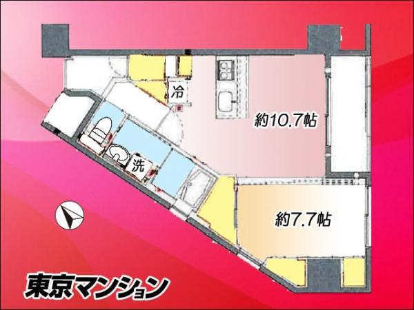 中古マンション 墨田区東向島5丁目39-14 京成押上線八広駅 4340万円