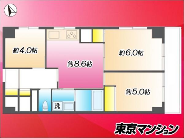 中古マンション 大田区南馬込5丁目 都営浅草線西馬込駅 2980万円