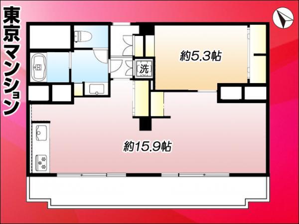 中古マンション 中央区明石町 有楽町線新富町駅 3298万円