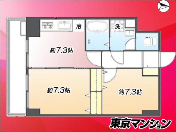 中古マンション 新宿区弁天町21-7 東西線早稲田駅 2690万円
