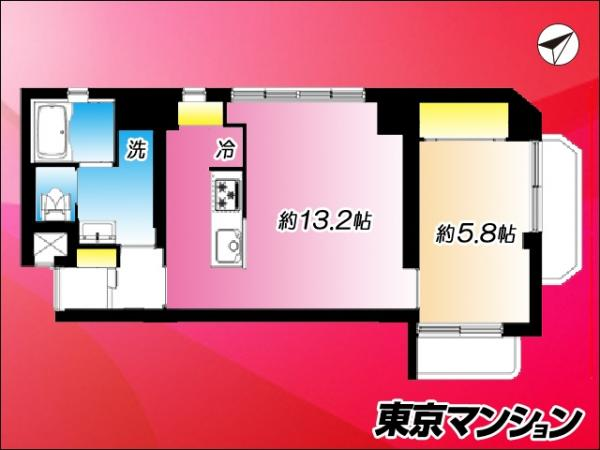 中古マンション 渋谷区幡ヶ谷2丁目 京王線笹塚駅 3599万円