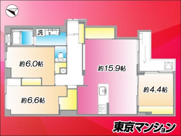 中古マンション 新宿区高田馬場4丁目 JR山手線高田馬場駅 5199万円