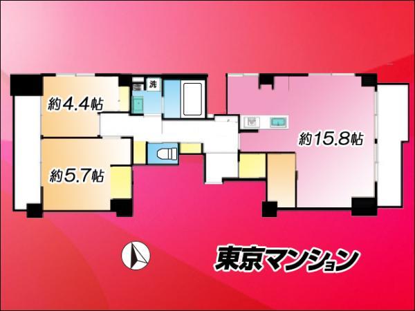 中古マンション 品川区上大崎3丁目14-17 JR山手線目黒駅 5980万円