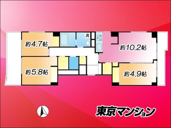 中古マンション 品川区上大崎3丁目 JR山手線五反田駅 5870万円