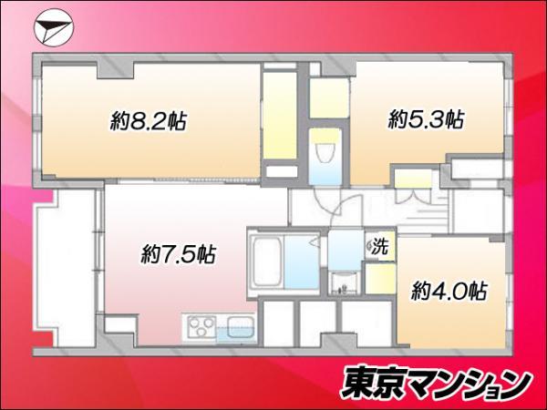 中古マンション 板橋区徳丸1丁目59-11 東武東上線東武練馬駅 2899万円