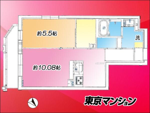 中古マンション 大田区大森東5丁目27-11 東京モノレール昭和島駅 3280万円