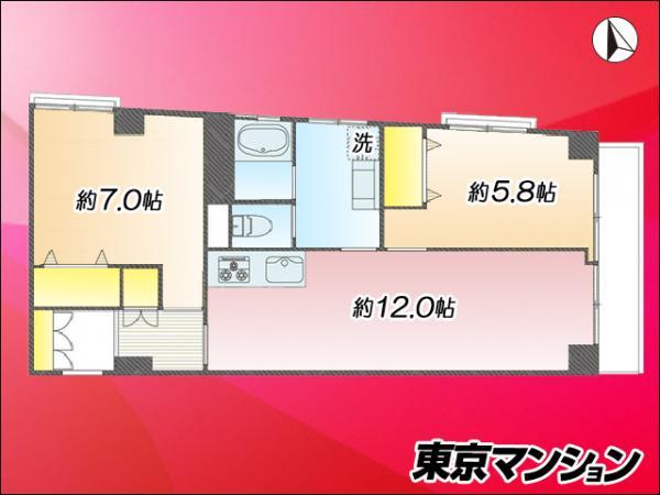 中古マンション 練馬区錦1丁目 東武東上線上板橋駅 2880万円