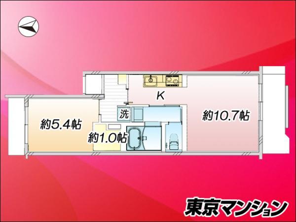 中古マンション 新宿区二十騎町 都営大江戸線牛込神楽坂駅 2700万円
