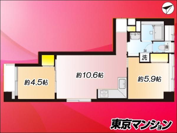 中古マンション 板橋区東坂下2丁目 都営三田線蓮根駅 2190万円
