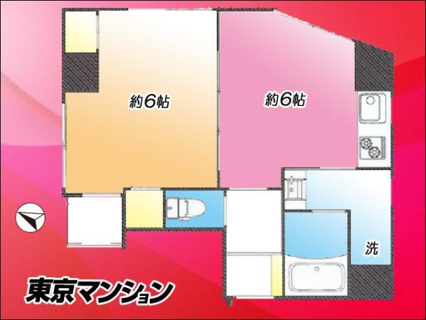中古マンション 新宿区百人町1丁目 JR中央・総武線大久保駅 2680万円