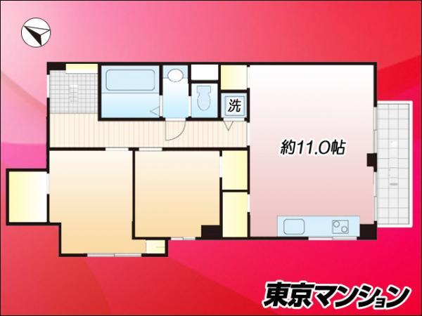 中古マンション 渋谷区本町4丁目 京王線初台駅 4680万円