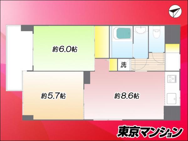 中古マンション 板橋区蓮根1丁目11-14 都営三田線蓮根駅 2480万円