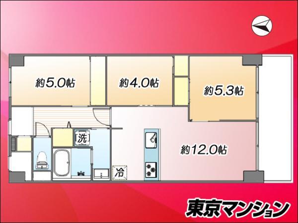 中古マンション 江東区塩浜2丁目 有楽町線豊洲駅 3680万円