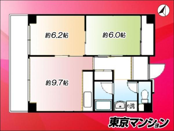 中古マンション 江東区塩浜2丁目 東西線木場駅 2780万円