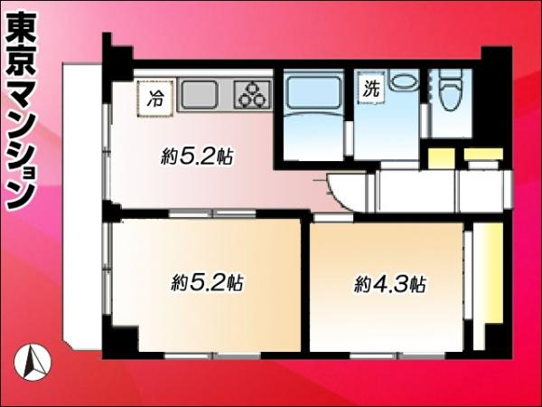 中古マンション 北区田端新町1丁目 JR山手線西日暮里駅 2798万円