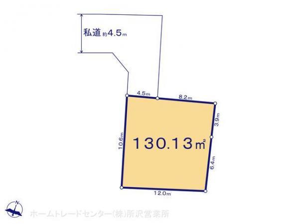 土地 埼玉県入間市大字小谷田83-1 西武池袋線入間市駅 1100万円