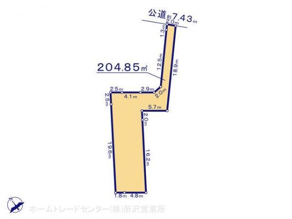 土地 埼玉県狭山市大字青柳927-2 西武新宿線南大塚駅 1580万円