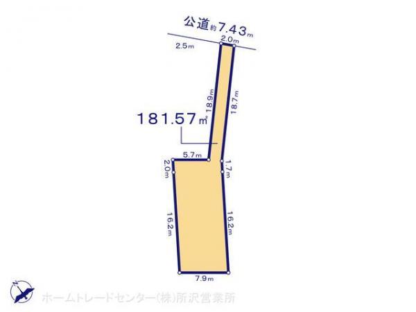土地 埼玉県狭山市大字青柳927-2 西武新宿線南大塚駅 1480万円